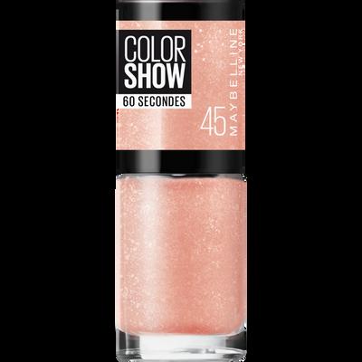 Vernis à ongles colorshow 46 sugar crystals MAYBELLINE, nu