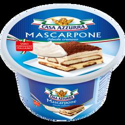 Mascarpone au lait pasteurisé 40% de matière grasse CASA AZZURRA, potde 250g