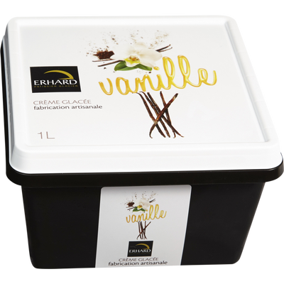 Crème glacée vanille ERHARD, bac 1l