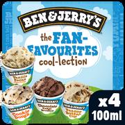 Ben & Jerry's Glace Fan Favourities Cool Ben & Jerry's, X4 Soit 292g
