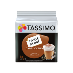 Café en dosettes cappuccino CARTE NOIRE Tassimo, 16 unités, 267g