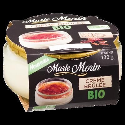 Crème brûlée bio MARIE MORIN, 130g