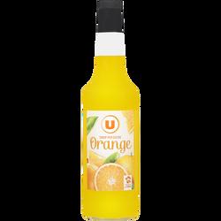 Sirop d'orange U, bouteille de 70cl