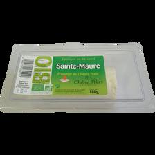 Sainte Maure nature bio lait pasteurisé chèvre 17% de MG CHENE VERT, 180g