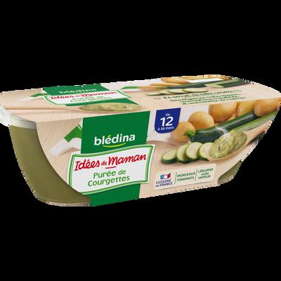 Bols pour bébé pomme de terre et courgette dès 12 mois IDEES DE MAMANBLEDINA, 2x200g