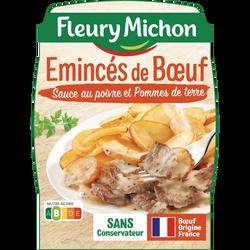 Emincés de boeuf sauce poivre pommes de terre FLEURY MICHON, 280g