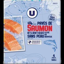 Pavés de saumon sans peau U, 500g