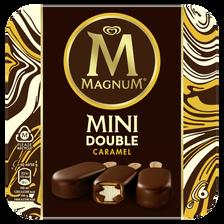 Mini batonnet glace double caramel MAGNUM, 6 unités, 300g
