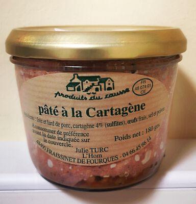 Pâté à la cartagène Produits du causse 180g