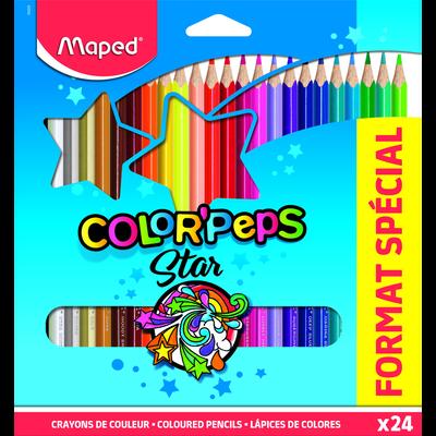 Crayons de couleurs MAPED Color'Peps, pack de 24