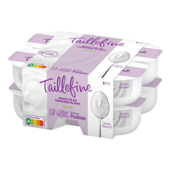 Fromage blanc nature 0% mg TAILLEFINE, 8x100g