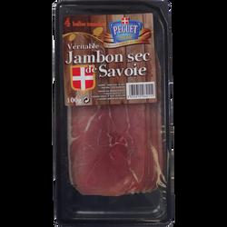 Jambon sec PEGUET, barquette de 4 tranches soit 100g