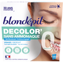 Blondépil Gel Décolorant Visage Sans Amoniaque , 2x25ml