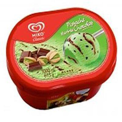 Crème glacée MIKO 1L, parfum pistache/chocolat