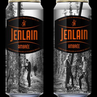 Bière ambrée l'originale JENLAIN, 7,5°, canette de 50cl