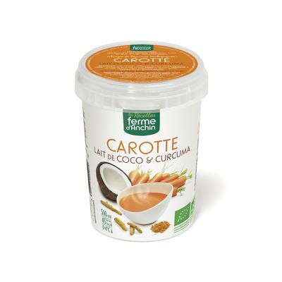 Soupe carotte coco bio curcu, 500ml