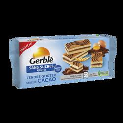 Tendre goûter saveur cacao sans sucre ajouté GERBLE, paquet de 250g