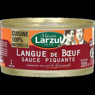 Langue de boeuf sauce piquante LARZUL, boîte 1/4, 205g