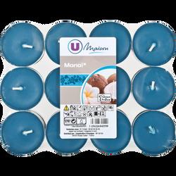 Chauffe-plats U MAISON, bleu/monoi, 24 unités