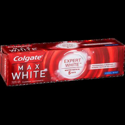 Dentifrice COLGATE max white expert cool mint, tube de 75ml