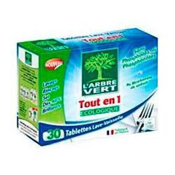 Tablettes lave vaisselle Tout en 1 L'ARBRE VERT, 555g