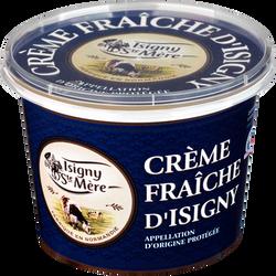 Crème fraîche épaisse AOP 35% de matière grasse ISIGNY SAINTE MERE, post en plastique de 50cl
