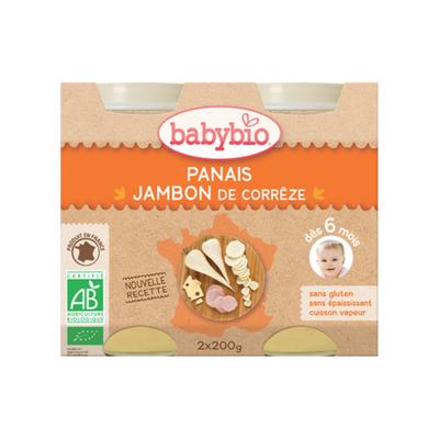 Pot Panais Jambon Gruyère BABYBIO dès 6 mois 2x200g