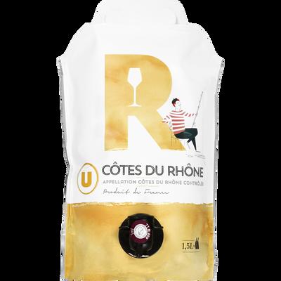 Côtes du Rhône AOP blanc U 1,5L