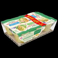 Les idées de maman , bol composé de 2 légumes saumon du pacifique / 2courgettes petites pâtes  merlu blanc/ 2 légumes verts champignons BLEDINA, dès 8 mois, 6x200g