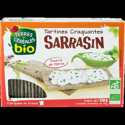 Tartines craquantes au sarrasin Bio TERRE & CEREALES, 150g