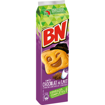 Goûters fourrés chocolat  et lait BN, 295g