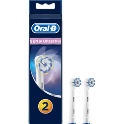 Brossettes de rechange pour brosse à dents électrique rechargeable ultr a thin sensitive ORAL B, 2 recharges