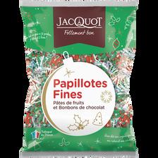 Jacquot Papillotes Fines Pâtes De Fruits Et Bonbons Chocolat , Sachet De 470g