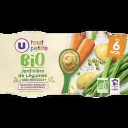 Bols jardinière de légumes Tout Petits Bio U, dès 6 mois, 2 unités, 200g