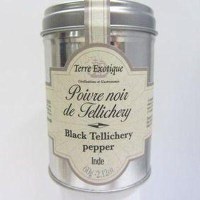 Poivre noir de Tellichery Inde TERRE EXOTIQUE,60g