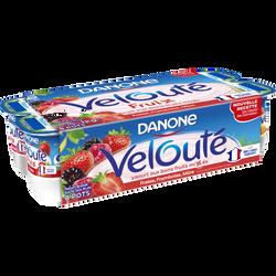 Spécialité laitière sucrée aux fruite mixés rouges velouté fruix DANONE, 8x125g