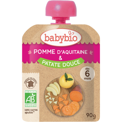 Gourde pomme patate douce BABYBIO, 90g