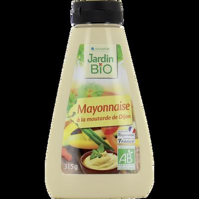 Sauce mayonnaise à la moutarde bio JARDIN BIO squeeze 315g