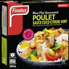 Poulet sauce coco citron vert et riz basmati FINDUS, 380g