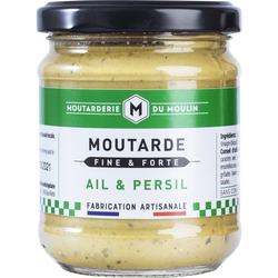 Moutarde fine ail persil LA MOUTARDERIE DU MOULIN, 200g