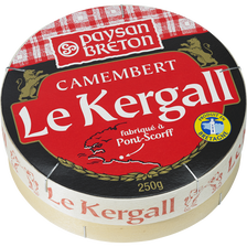 Camembert au lait pasteurisé Kergall EVEN, 23%MG, 250g