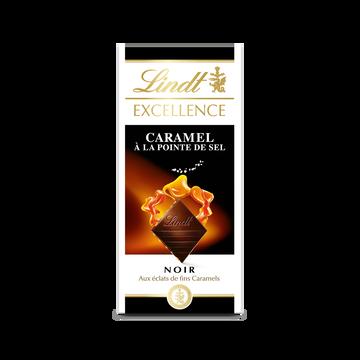 Lindt Chocolat Noir 70% De Caramel À La Pointe De Sel Excellence Lindt, 100g