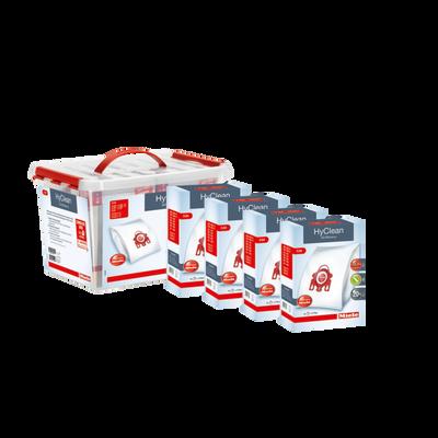 PACK TRANQUILITE MIELE FJM-COMPRENANT:16 SACS HYCLEAN 3D EFFICIENCY FJM,4 FILTRES D'EVACUATION AIRCLEAN,4 FILTRESMOTEUR EMBALLEES DANS UNE BOITE PLASTIQUE