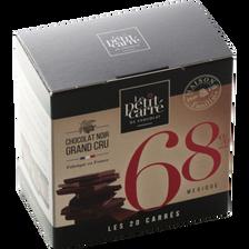 Carrés Mexique 68% au chocolat grand cru LE PETIT CARRE DE CHOCOLAT, boîte de 20 soit 100g