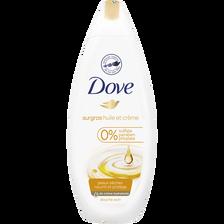 Douche huile crème de soin, DOVE, flacon de 250ml