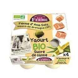 4 yaourts sucre de canne Ana Soiz