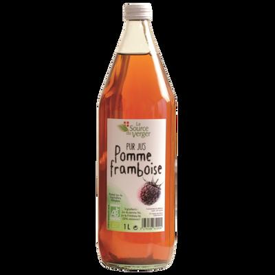 Jus de pomme framboise bio LA SOURCE DU VERGER, bouteille 1l