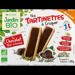 Tartinettes au chocolat noir bio JARDIN BIO 138g