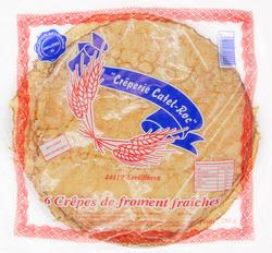 6 crêpes de froment Fraiches, CATEL ROC, 250g