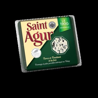 Fromage pasteurisé à pâte persillée 33%mg ST AGUR 190g